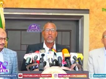 Madaxweynaha Somaliland Iyo Madaxda Xisbiyada Mucaaradka Somaliland Oo Sheegay Inaanay Khusayn Dayn Cafinta Dawlada Somalia+ Muuqaal