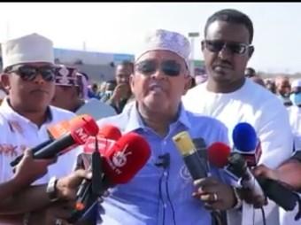 Gudoomiyaha Xisbiga Waddani Cabdiraxmaan Maxamed Cabdilaahi Ciro Oo Dhambaal Hambalyo Ah Udiray Shacabka Reer Somaliland Munaasibada Ciidal Fidriga Awgeed + Muuqaal